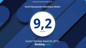 Hotelbewertung ausgezeichnet Oberwesel Rhein Koblenz Rüdesheim Booking Tophotel