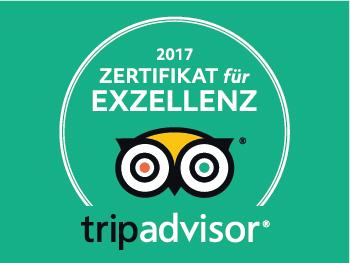 Sehr gute Hotelbewertung TripAdvisor Auszeichnung Exzellenz
