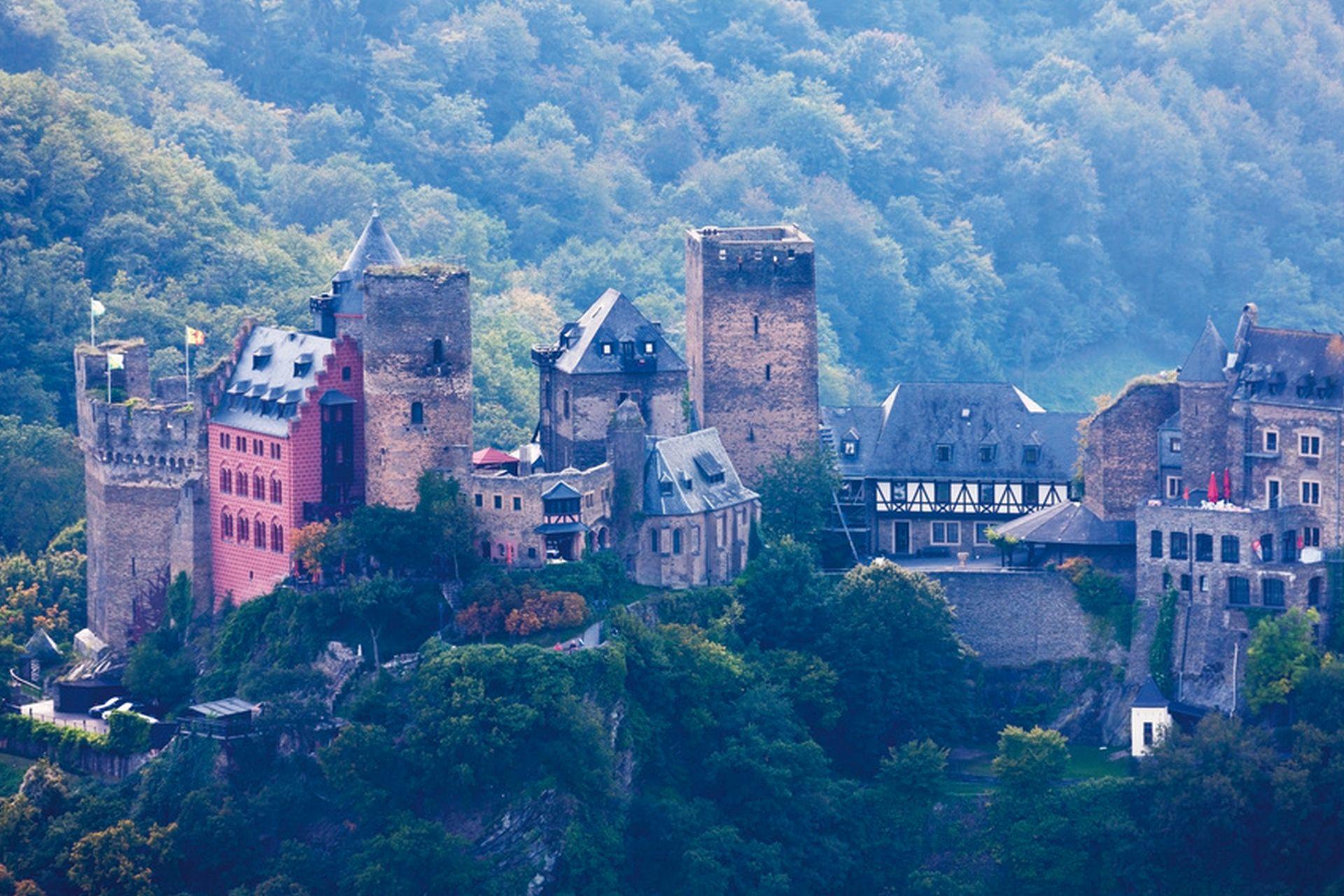 Deutschland, Rheinland-Pfalz, Ansicht der Burg Schönburg
