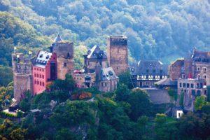 Oberwesel am Rhein Loreley Burg Schöburg Rheinburgenweg